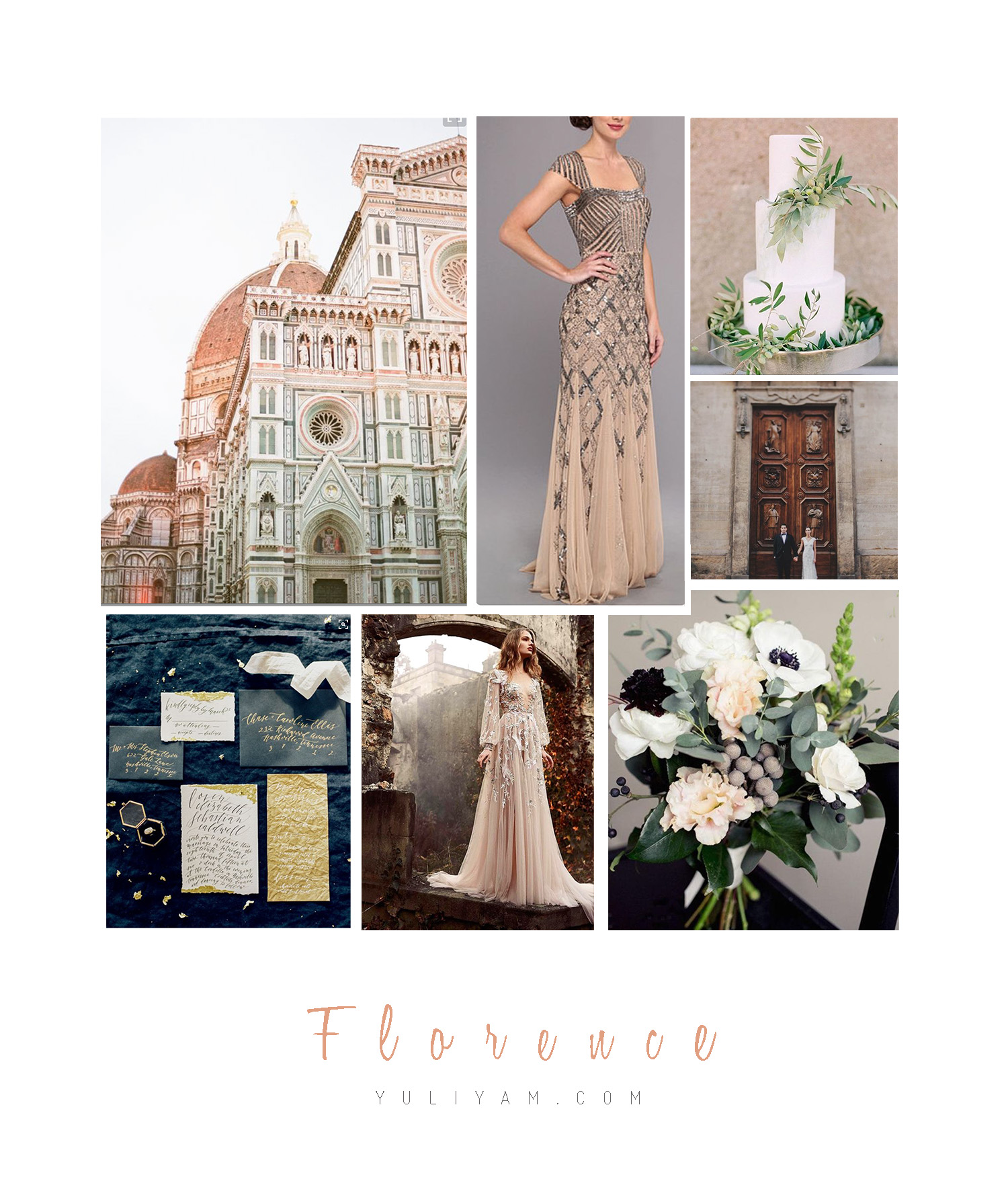 Florence Tuscany Elopement Style Board