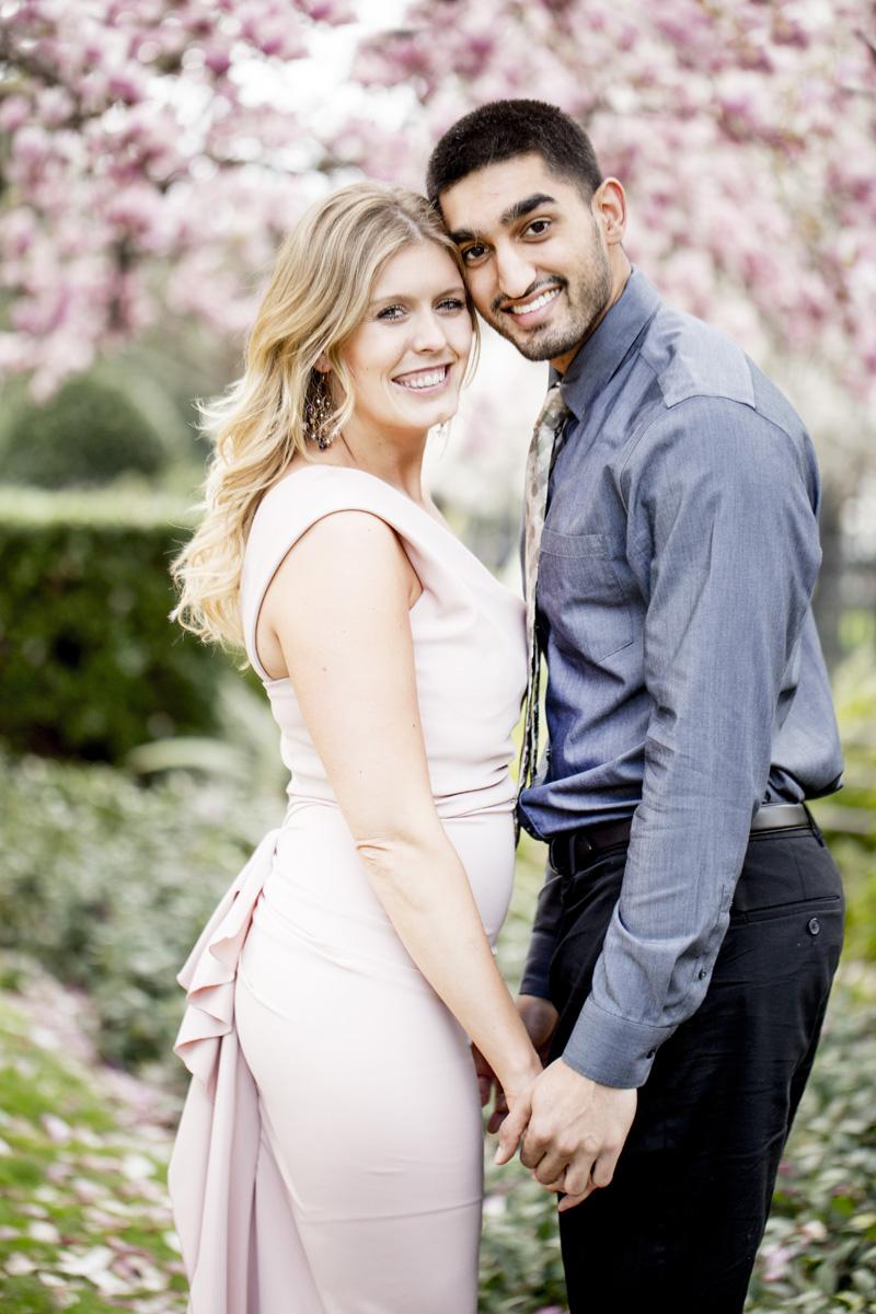 Pink Dress Spring Engagement Session